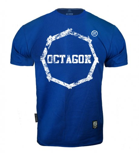 T-shirt Octagon Logo Smash blue