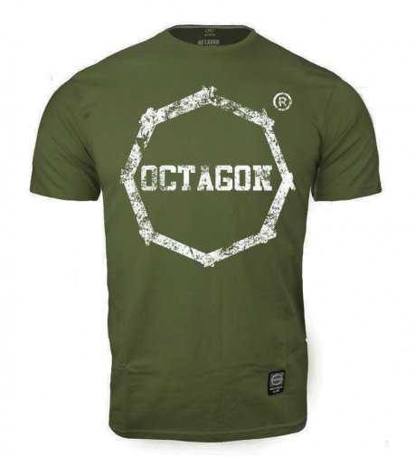 T-shirt Octagon Logo Smash khaki