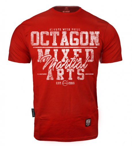 T-shirt Octagon Mixed Martial Arts red [KOLEKCJA 2021]