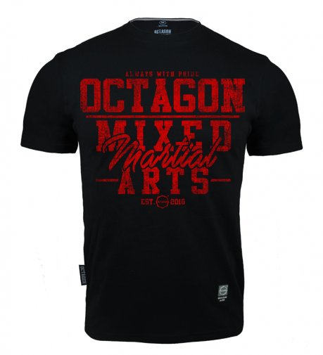 T-shirt Octagon Mixed Martial Arts black/red [KOLEKCJA 2021]