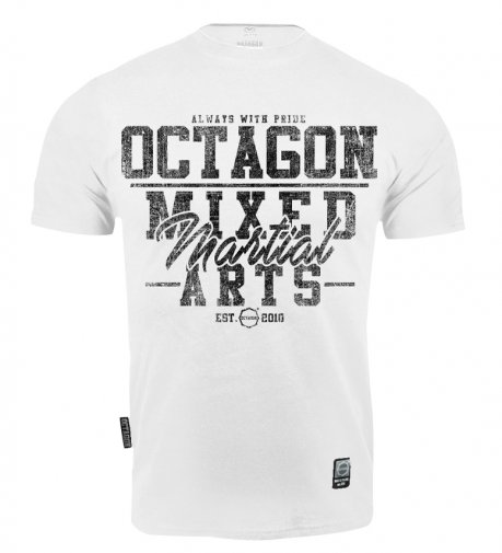 T-shirt Octagon Mixed Martial Arts white [KOLEKCJA 2021]