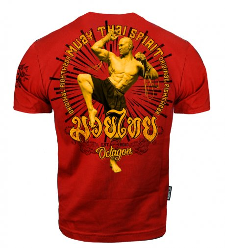 T-shirt Octagon Muay Thai Spirit red [KOLEKCJA 2021]