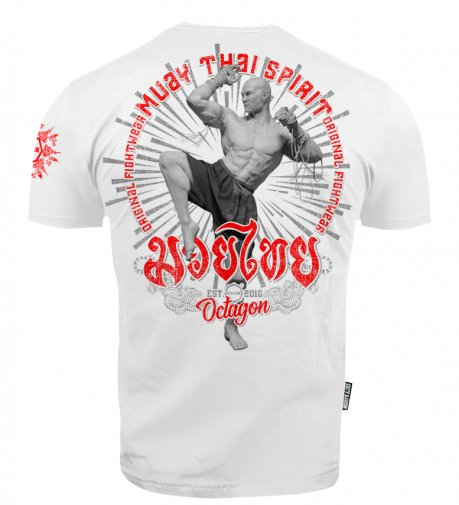 T-shirt Octagon Muay Thai Spirit white [KOLEKCJA 2021]