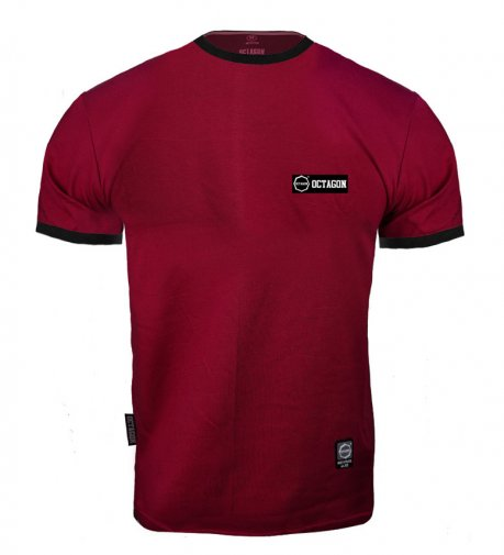 T-shirt Octagon Small Logo Caption burgund
