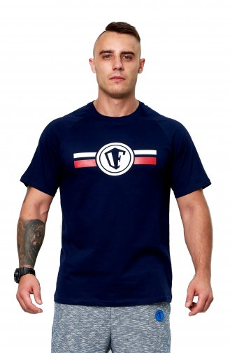 T-shirt OFENSYWA stripes logo navy XXL