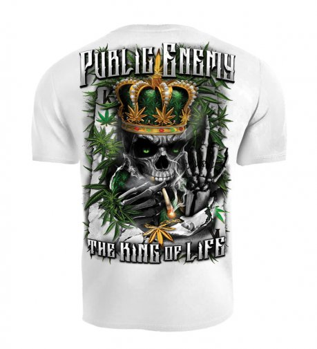 T-shirt Public Enemy King of the Life biały