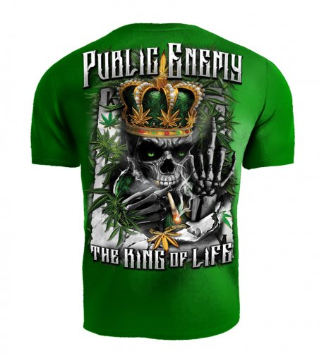 T-shirt Public Enemy King of the Life zielony