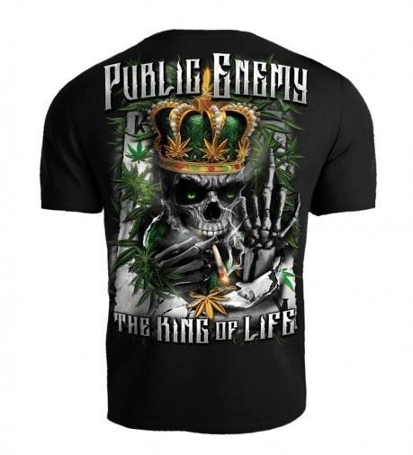 T-shirt Public Enemy King of the Life czarny
