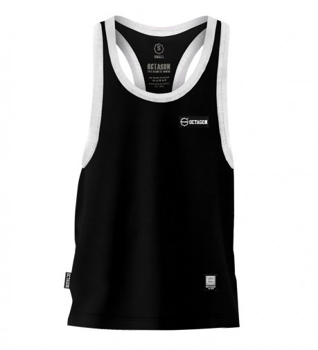 Tank Top Octagon Small Logo Caption black