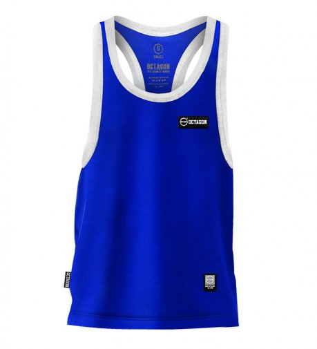 Tank Top Octagon Small Logo Caption blue
