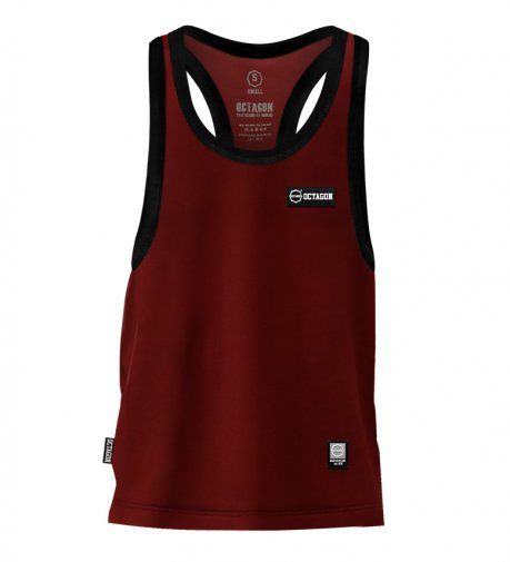 Tank Top Octagon Small Logo Caption burgund