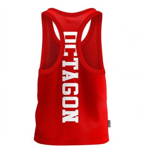 Tank Top Octagon Fight Wear red