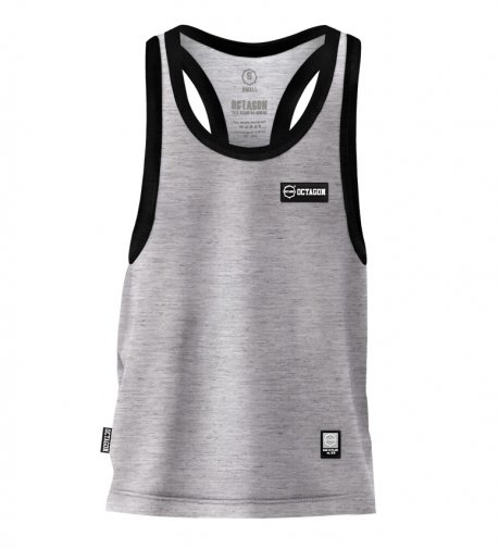 Tank Top Octagon Small Logo Caption grey