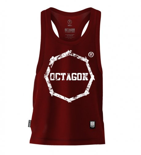 Tank Top Octagon Logo Smash burgund