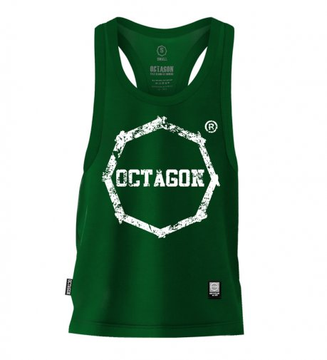 Tank Top Octagon Logo Smash green