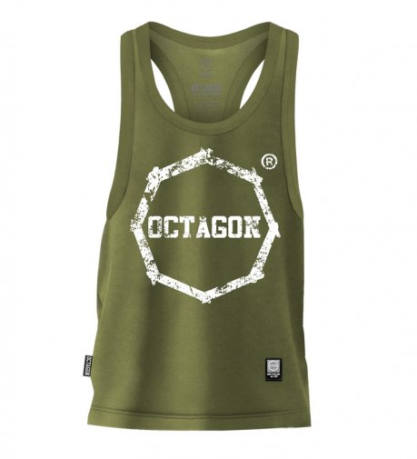 Tank Top Octagon Logo Smash khaki