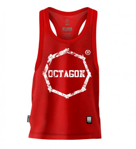 Tank Top Octagon Logo Smash red
