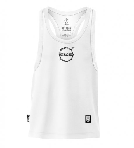 Tank Top Octagon Logo Smash Small white