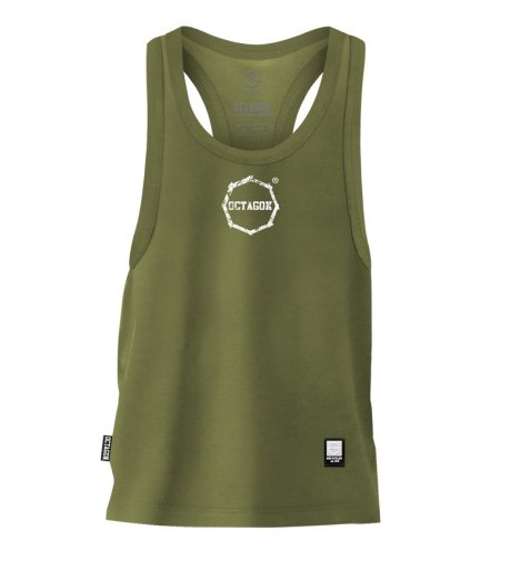 Tank Top Octagon Logo Smash Small khaki