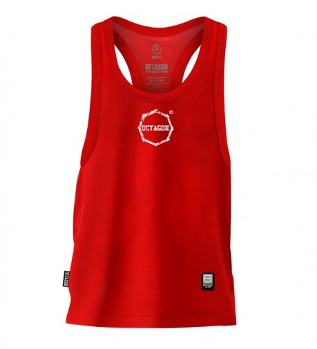 Tank Top Octagon Logo Smash Small red