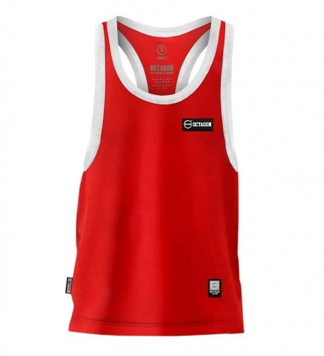 Tank Top Octagon Small Logo Caption red