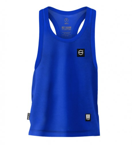 Tank Top Octagon Small Logo blue