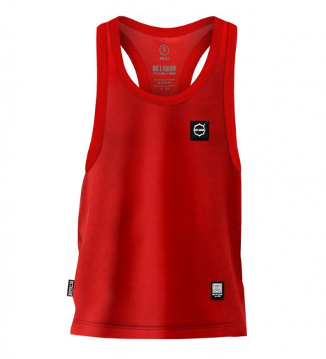 Tank Top Octagon Small Logo red