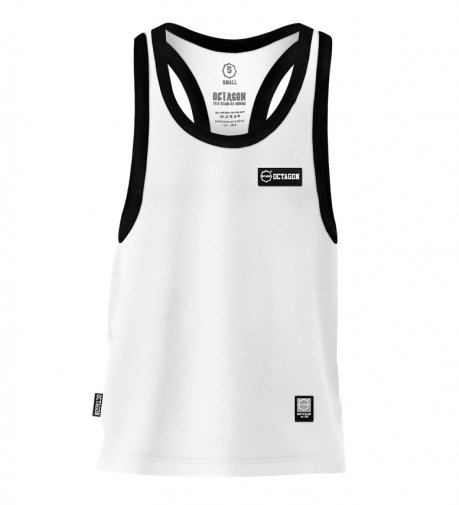 Tank Top Octagon Small Logo Caption white