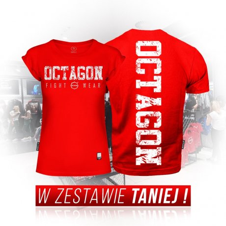 Zestaw T-shirtów Fight Wear Octagon red