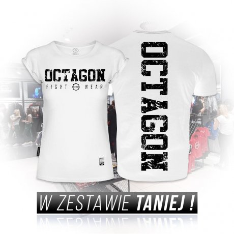 Zestaw T-shirtów Fight Wear Octagon white