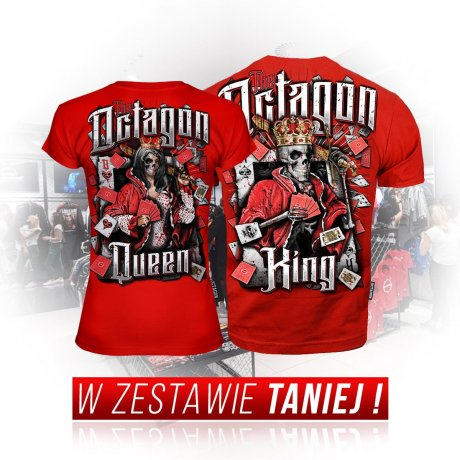 Zestaw T-shirtów King & Queen red